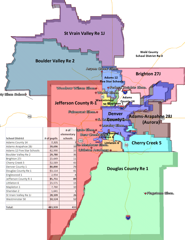Denver - Denver county map